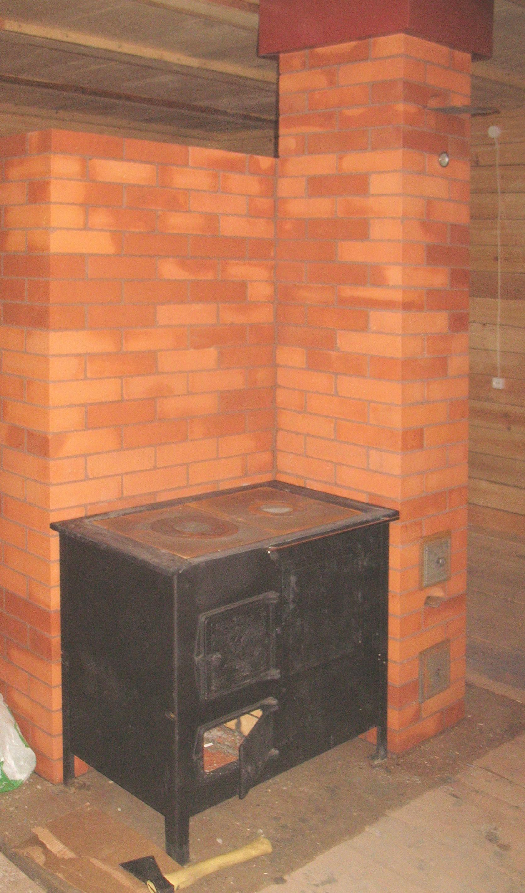 Как сделать кирпичный дымоход для металлической печи